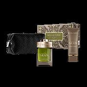 BVLGARI BVLGARI MAN WOOD ESSENCE POUCH SET 100ml Eau de Parfum + 100 ml After Shave Balm + Herren-Kulturtasche