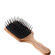 Acca Kappa Hairbrushes Collection Mahogany Kotibe Wood Pneumatic Travel Paddle Brush