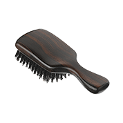 Acca Kappa Classic Collection Ebony Makasser Wood Club Style with Natural Bristles