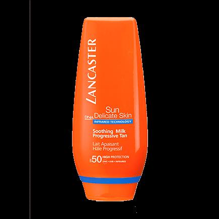Lancaster Sun Delicate Skin Soothing Milk Progressive Tan SPF 50