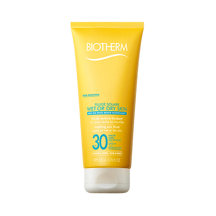 Biotherm Solaires Sonnenmilch Fluide Wet SkinLSF 30