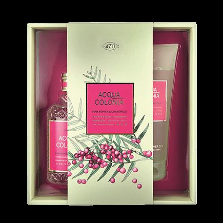 4711 Acqua Colonia Pink Pepper & Grapefruit Set mit Shower Gel