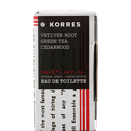 Korres Vetiver Root / Green Tea / Cedarwood Eau de Toilette für Ihn