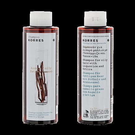 Korres Liquorice & UrtiquaShampoo für fettiges Haar