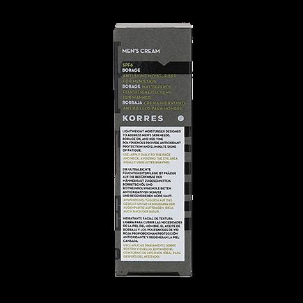 Korres Men Borage / SPF6Mattierende Feuchtigkeitscreme