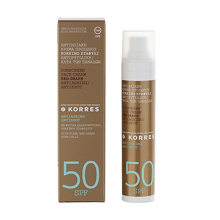 Korres Red Grape Anti-Dark-Spot Sonnencreme für das Gesicht SPF 50