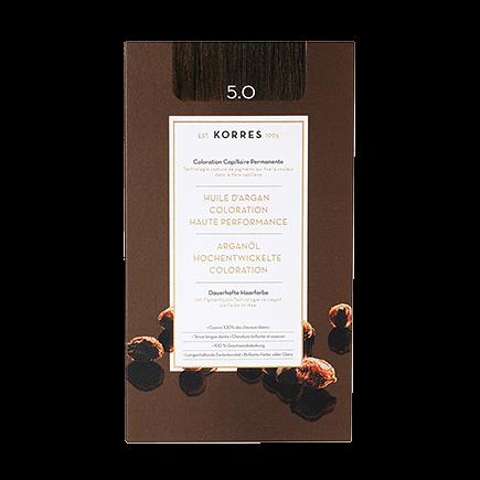 Korres Haarfarben Arganöl - Hochentwickelte Coloration 5.0 - Light Brown / Hellbraun