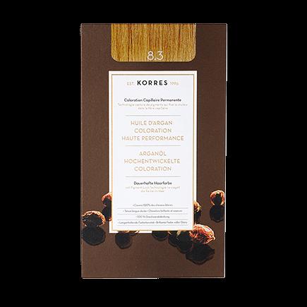 Korres Haarfarben Arganöl - Hochentwickelte Coloration 8.3 - Golden / Honey Light Blonde / Honigblond