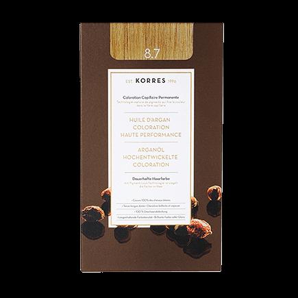 Korres Haarfarben Arganöl - Hochentwickelte Coloration 8.7 - Toffee