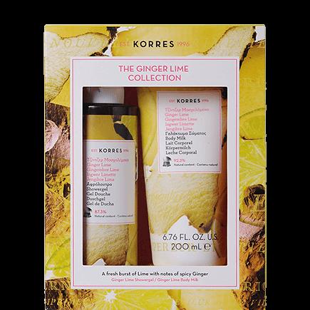 Korres Ginger Lime Collection Shower Gel + Bodymilk