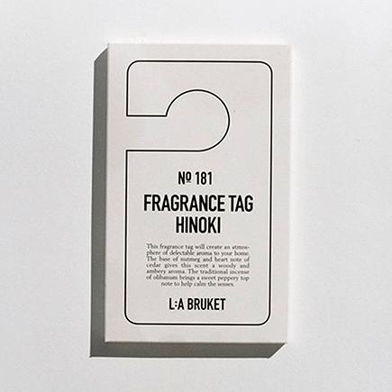 L:A Bruket 181 Fragrance Tag Hinoki