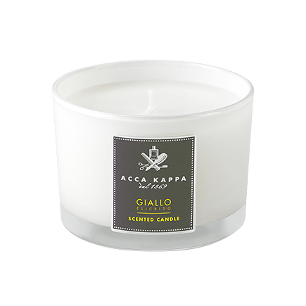 Acca Kappa Casa Collection Scented Candle in a High Quality Glass Giallo Elicriso
