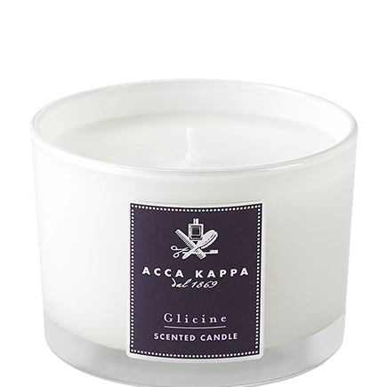 Acca Kappa Casa Collection Scented Candle in a High Quality Glass Glicine Wisteria