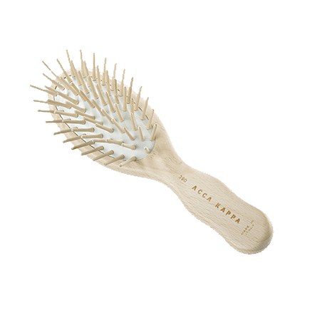 Acca Kappa Hairbrushes Collection SMALL TRAVEL PNEUMATIC BRUSH WITH WOODEN PINS