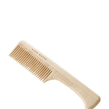 Acca Kappa Natural Beechwood Combs Wooden Comb with Handles