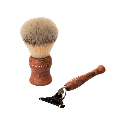 Acca Kappa Barber Shop Collection Shaving Set Brush & Razor Raw Sienna