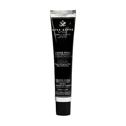 Acca Kappa Natural Care BIANCO PERLA BLACK TOOTHPASTE