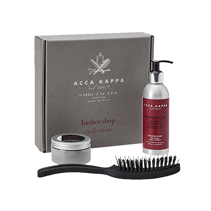 Acca Kappa Gift Sets Shampoo For Men, Matt Finish Wax, Airy Hair Brush