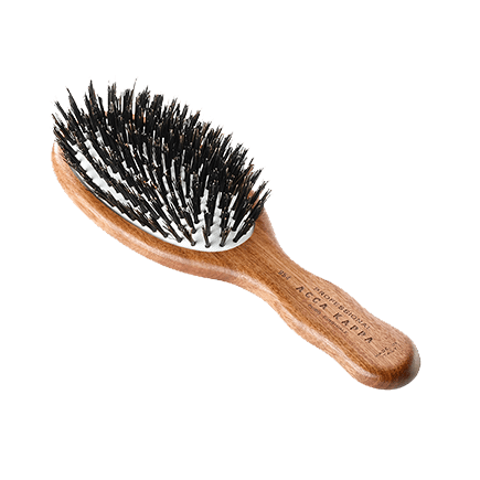 Acca Kappa Hairbrushes Collection Mahogany Kotibe Wood Pneumatic Travel Oval Brush