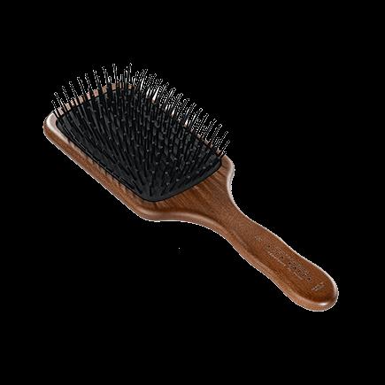 Acca Kappa Hairbrushes Collection Mahogany Kotibe Wood Pneumatic Paddle Brush Pins