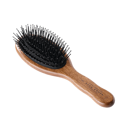 Acca Kappa Hairbrushes Collection Mahogany Kotibe Wood Pneumatic Oval Brush Pins