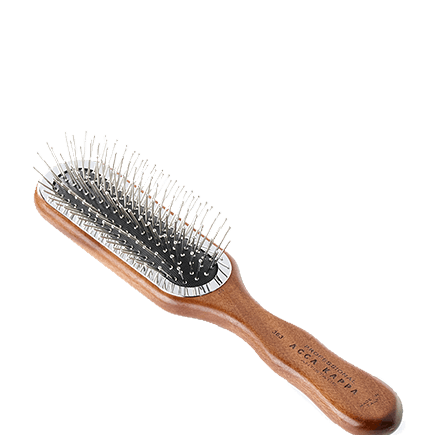 Acca Kappa Hairbrushes Collection Mahogany Kotibe Wood Pneumatic Brush with Metal Pins
