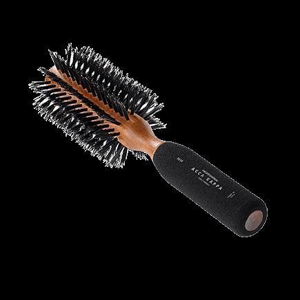 Acca Kappa Hairbrushes Collection Mahogany Kotibe Wood ROUND BRUSH - KOTIBE' WOOD - RUBBER SPONGE HANDLE - 100% BOAR BRISTLES - DIAM. 59