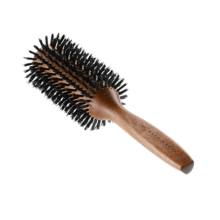 Acca Kappa Hairbrushes Collection Mahogany Kotibe Wood ROUND BRUSH - KOTIBE' WOOD - 100% BOAR BRISTLES & NYLON - BI-LEVEL TUFS -  DIAM. 62/54