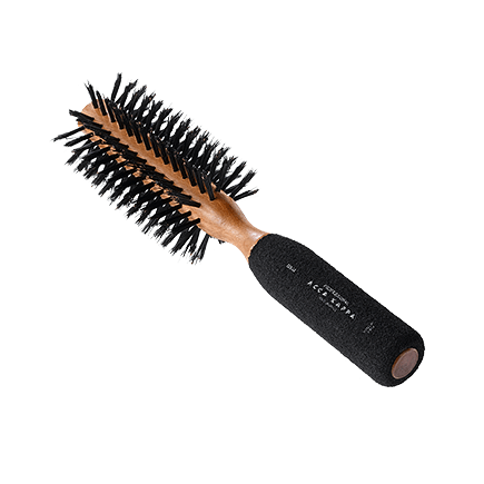 Acca Kappa Hairbrushes Collection Mahogany Kotibe Wood ROUND BRUSH - KOTIBE' WOOD - RUBBER SPONGE HANDLE - 100% BOAR BRISTLES - DIAM. 55