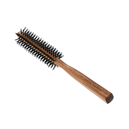 Acca Kappa Hairbrushes Collection Mahogany Kotibe Wood ROUND BRUSH NYLON PINS - RESIN TIPS - DIAM. 29