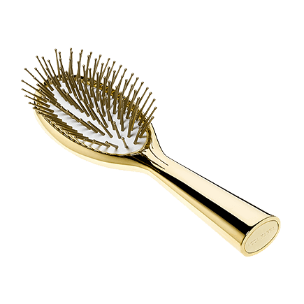 Acca Kappa Hairbrushes Collection GOLDPLATED HAIRBRUSH - POM PINS Travel size