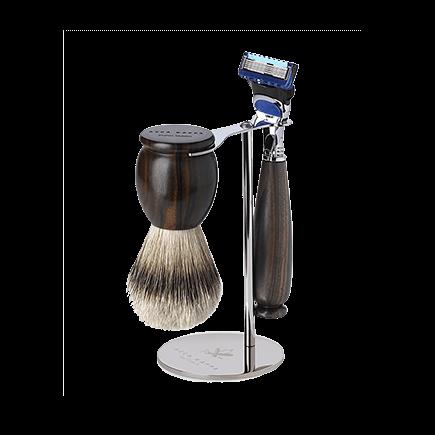 Acca Kappa Classic Collection Ebony Makasser Wood Shaving Set