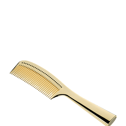 Acca Kappa Luxury Italian Collection Combs Goldplated Comb with Handles