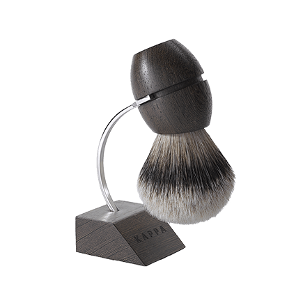 Acca Kappa 1869 Wenge Wood Shaving Brush with Metalstand