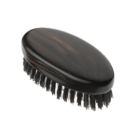 Acca Kappa Classic Collection Ebony Makasser Wood Military Style with Black Natural Bristles