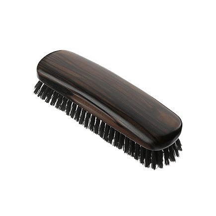 Acca Kappa Classic Collection Ebony Makasser Wood Biscotto with Black Natural Bristles