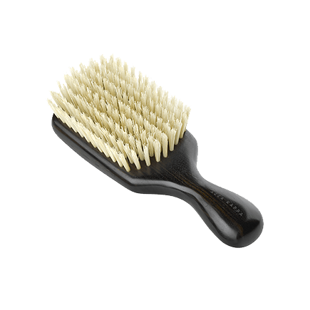 Acca Kappa Classic Collection Ebony Makasser Wood Club Style with White Natural Bristles