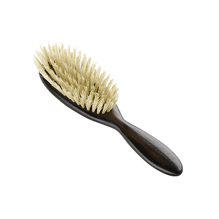 Acca Kappa Classic Collection Ebony Makasser Wood Parigina with White Natural Bristles