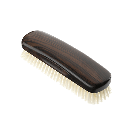 Acca Kappa Classic Collection Ebony Makasser Wood Biscotto with White Natural Bristles