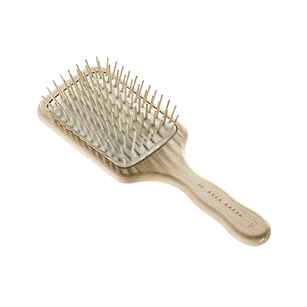 Acca Kappa Hairbrushes Collection RECTANGULAR PNEUMATIC BRUSH WITH WOODEN PINS