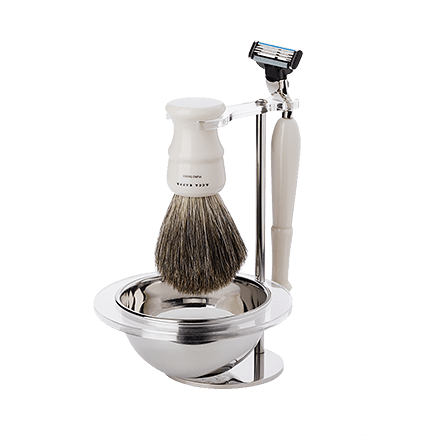 Acca Kappa Shaving Collection SHAVING SET WITH PURE BADGER SHAVING BRUSH AND