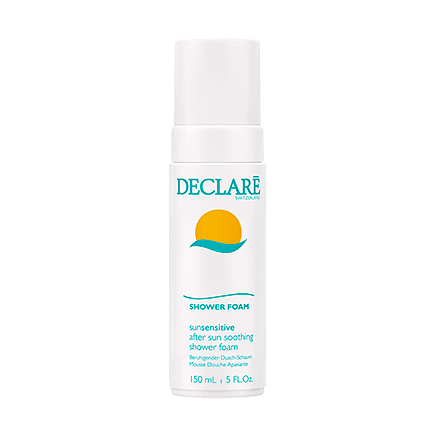 Declare Sun Sensitive after sun soothing shower foam