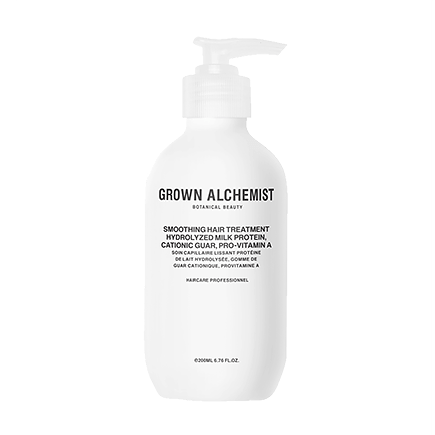 Grown Alchemist Cosmeceutical Haircare SMOOTHING HAIR TREATMENT: HYDROLIZED MILK PROTEIN, CATIONIC GUAR, PRO-VITAMIN A