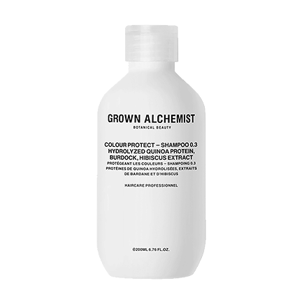 Grown Alchemist Cosmeceutical Haircare COLOUR-PROTECT SHAMPOO 0.3 HYDROLIZED QUINOA PROTEIN, BURDOCK, HIBISCUS EXTRACT