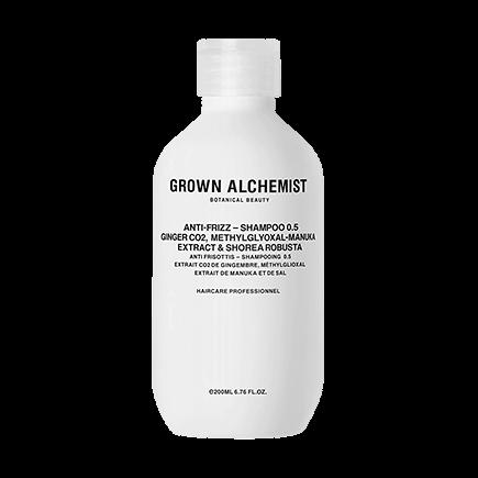 Grown Alchemist Cosmeceutical Haircare ANTI-FRIZZ SHAMPOO 0.5 GINGER CO2, METHYLGLYOXAL-MANUKA EXTRACT, SHOREA ROBUSTA
